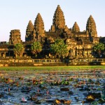 The Angkor Wat complex in Cambodia