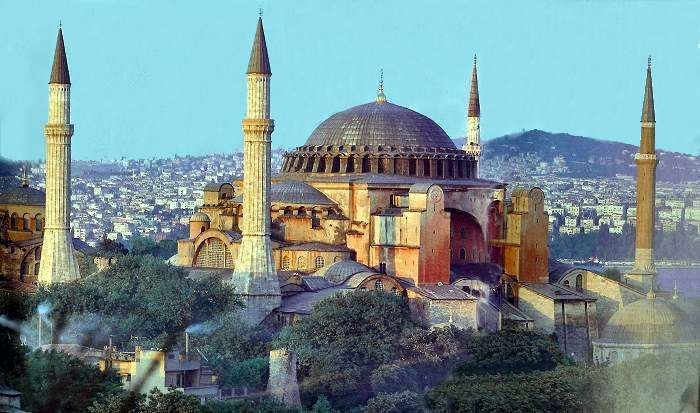 The Haghia Sophia in Istanbul, Turkey